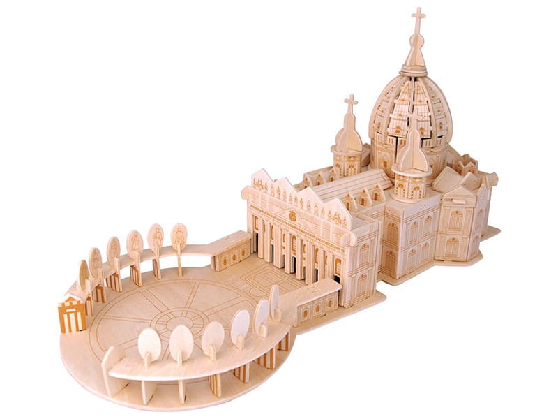 Bazylika św. Piotra składanka drewniana
